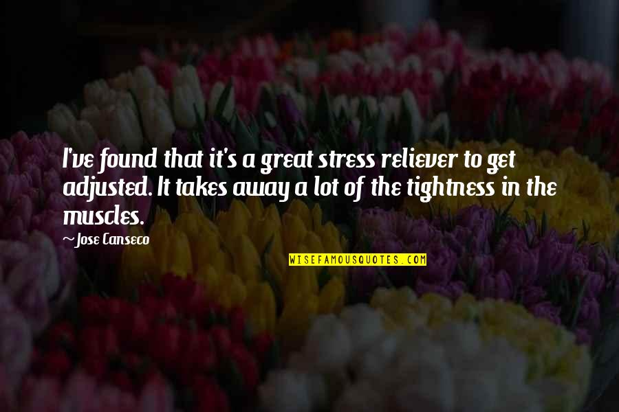 Life Went Wrong Quotes By Jose Canseco: I've found that it's a great stress reliever