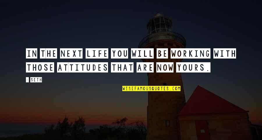 Life With Attitude Quotes By Seth: In the next life you will be working