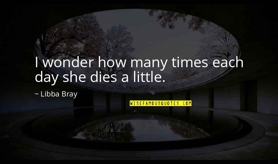 Life With Bad Words Quotes By Libba Bray: I wonder how many times each day she