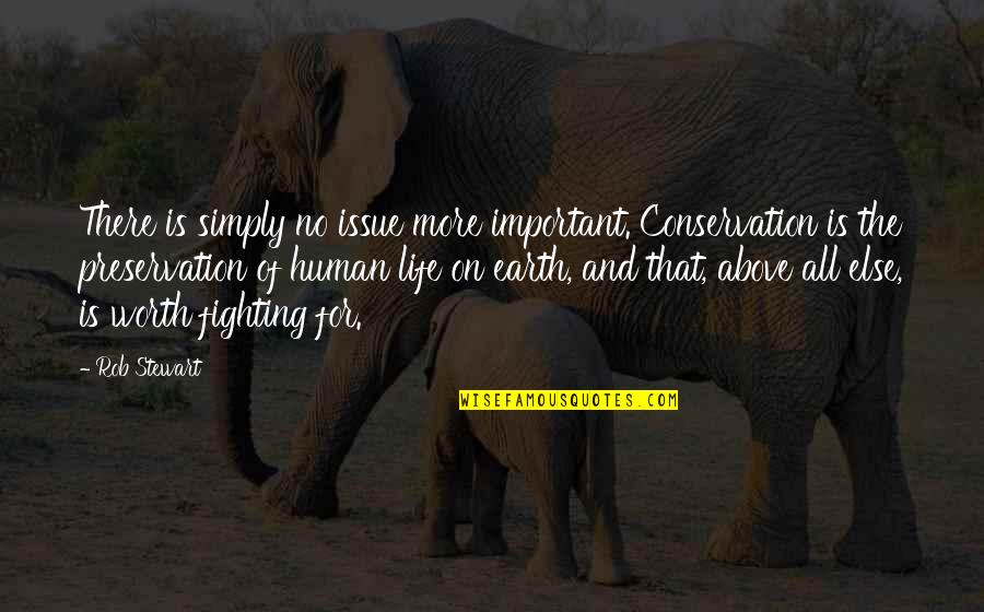 Life Worth Fighting For Quotes By Rob Stewart: There is simply no issue more important. Conservation