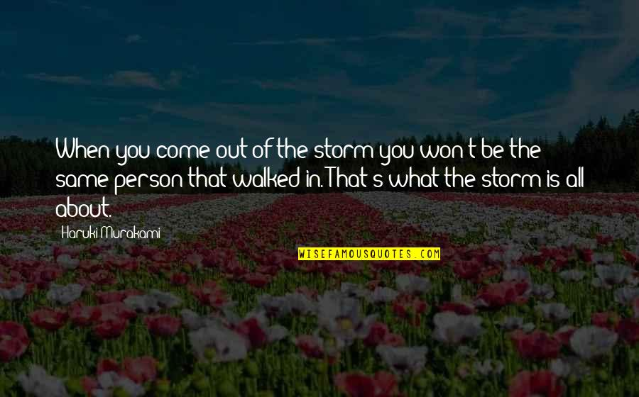 Life's All About Quotes By Haruki Murakami: When you come out of the storm you