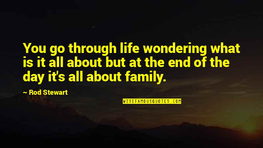 Life's All About Quotes By Rod Stewart: You go through life wondering what is it