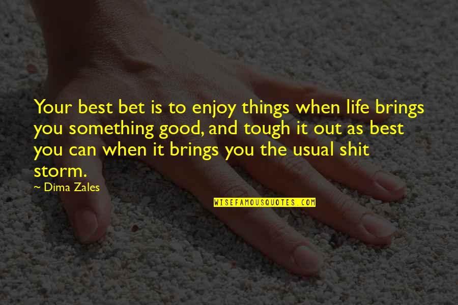 Life's Good When Quotes By Dima Zales: Your best bet is to enjoy things when