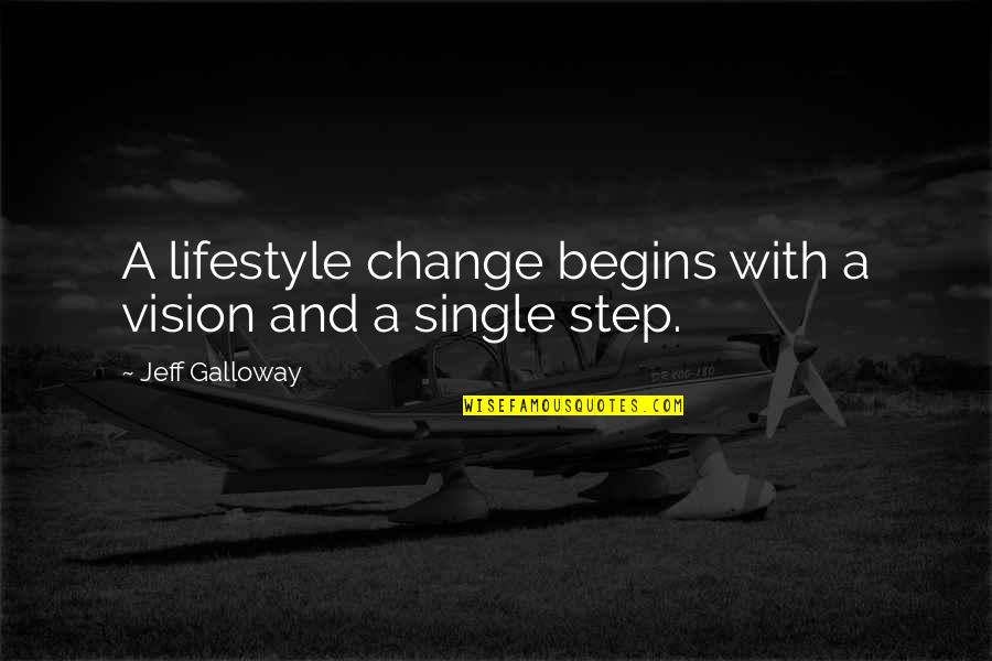 Lifestyle Change Quotes By Jeff Galloway: A lifestyle change begins with a vision and
