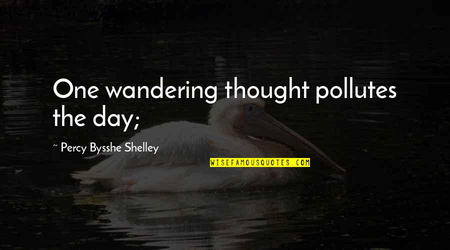 Light In The Fog Quotes By Percy Bysshe Shelley: One wandering thought pollutes the day;