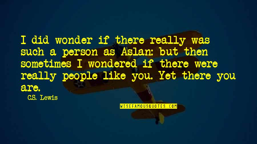 Like If You Quotes By C.S. Lewis: I did wonder if there really was such