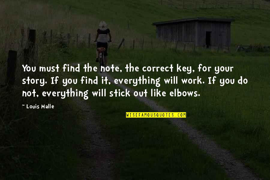 Like If You Quotes By Louis Malle: You must find the note, the correct key,