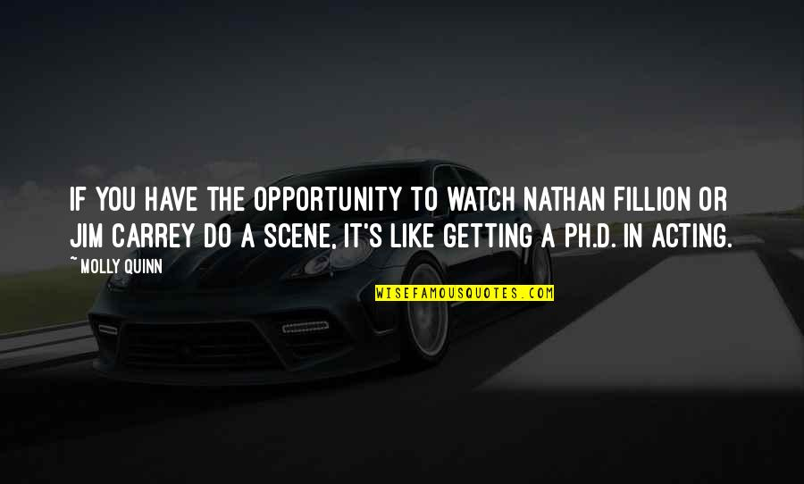 Like If You Quotes By Molly Quinn: If you have the opportunity to watch Nathan