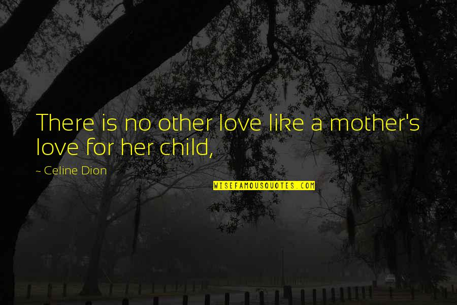 Like No Other Quotes By Celine Dion: There is no other love like a mother's