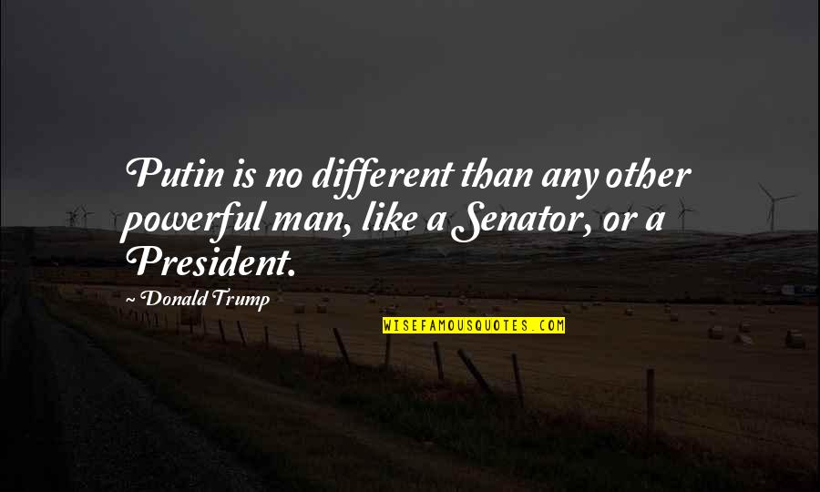 Like No Other Quotes By Donald Trump: Putin is no different than any other powerful
