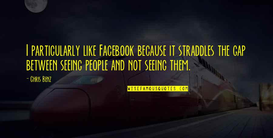 Like On Facebook Quotes By Chris Benz: I particularly like Facebook because it straddles the