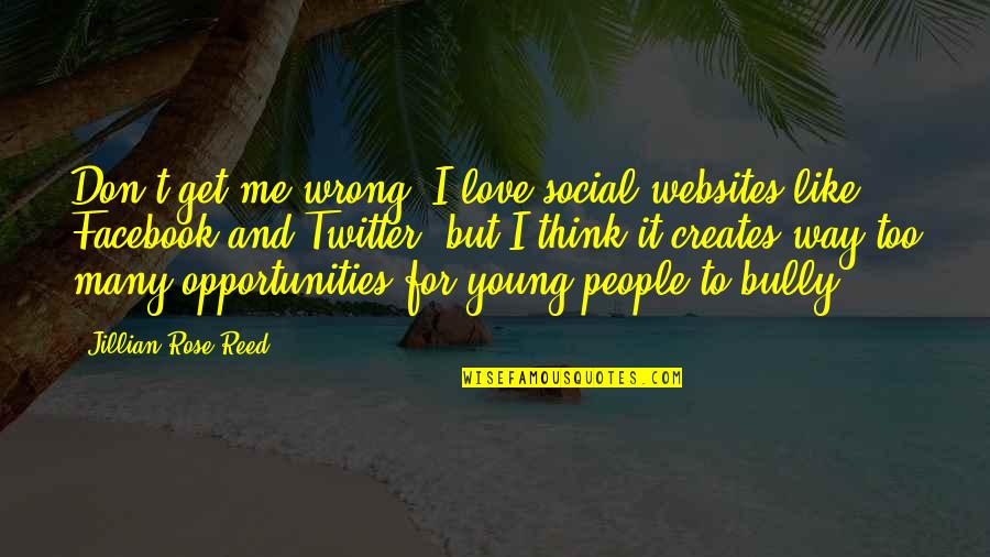 Like On Facebook Quotes By Jillian Rose Reed: Don't get me wrong: I love social websites