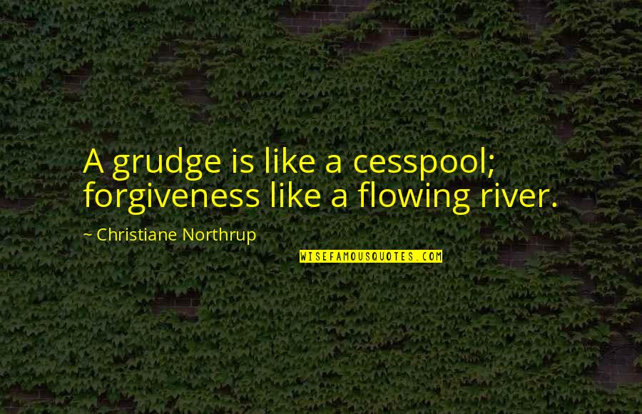 Like The Flowing River Quotes By Christiane Northrup: A grudge is like a cesspool; forgiveness like