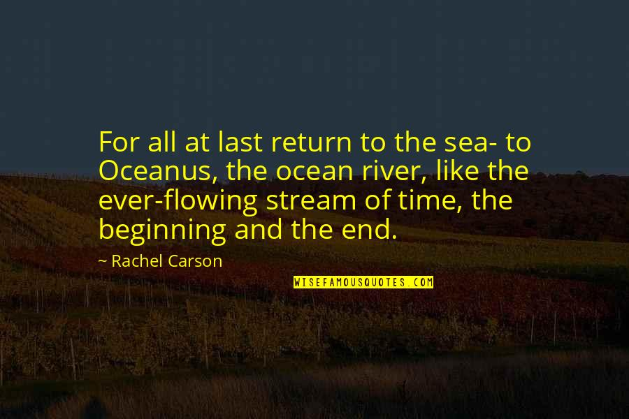 Like The Flowing River Quotes By Rachel Carson: For all at last return to the sea-