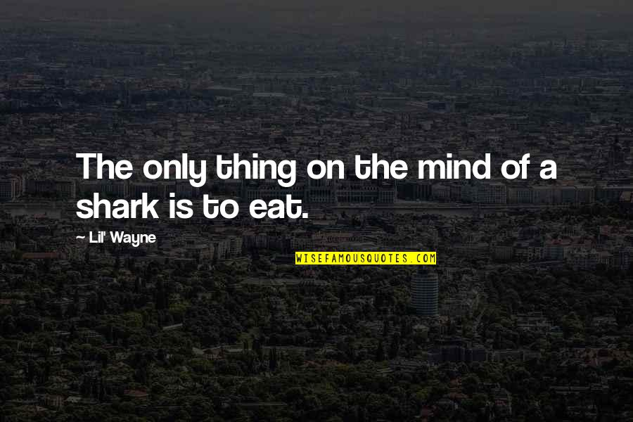 Lil B Quotes By Lil' Wayne: The only thing on the mind of a