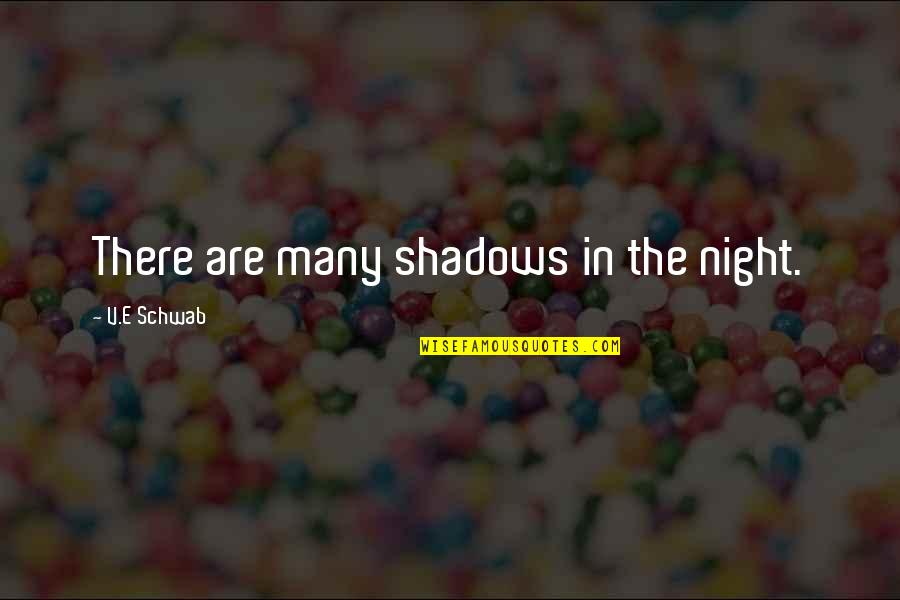 Lila Quotes By V.E Schwab: There are many shadows in the night.
