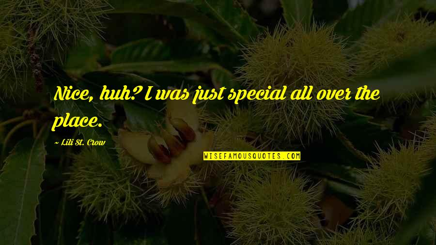 Lili Quotes By Lili St. Crow: Nice, huh? I was just special all over