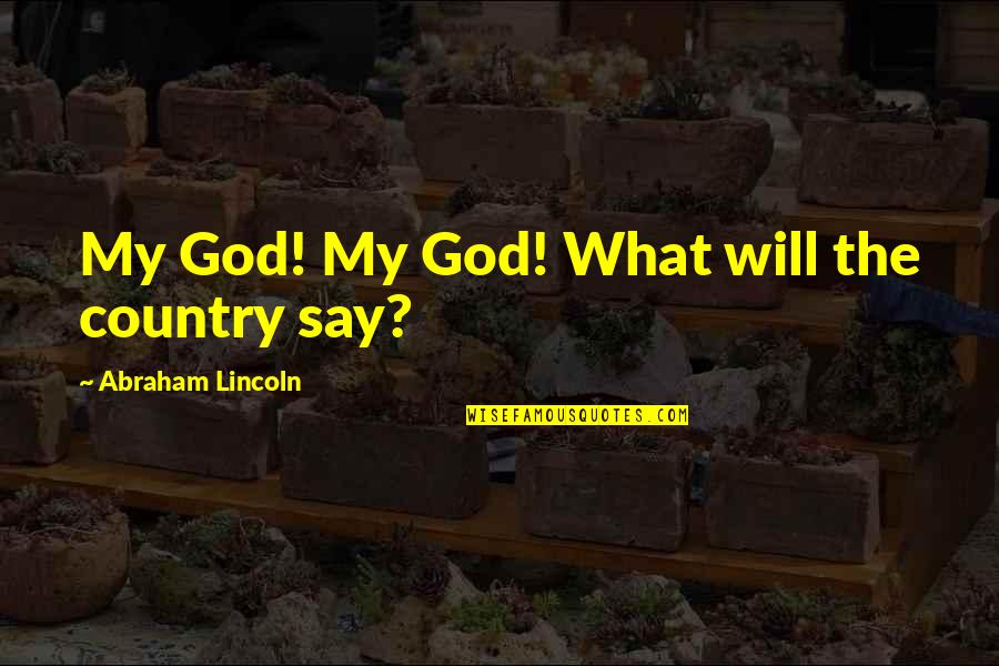 Lincoln And The Civil War Quotes By Abraham Lincoln: My God! My God! What will the country