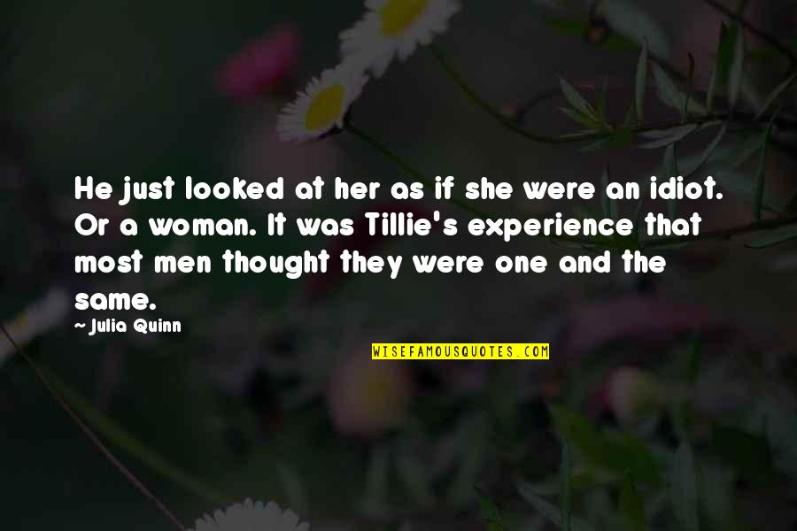 Linda Lee Cadwell Quotes By Julia Quinn: He just looked at her as if she