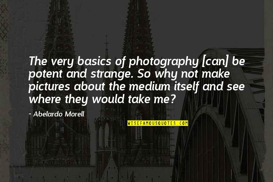 Linda Toupin Quotes By Abelardo Morell: The very basics of photography [can] be potent