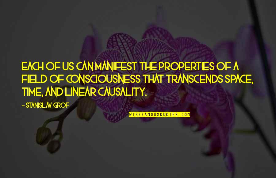 Linear Time Quotes By Stanislav Grof: Each of us can manifest the properties of