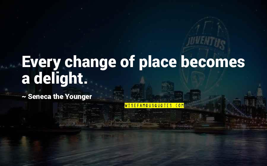 Linux Nested Quotes By Seneca The Younger: Every change of place becomes a delight.