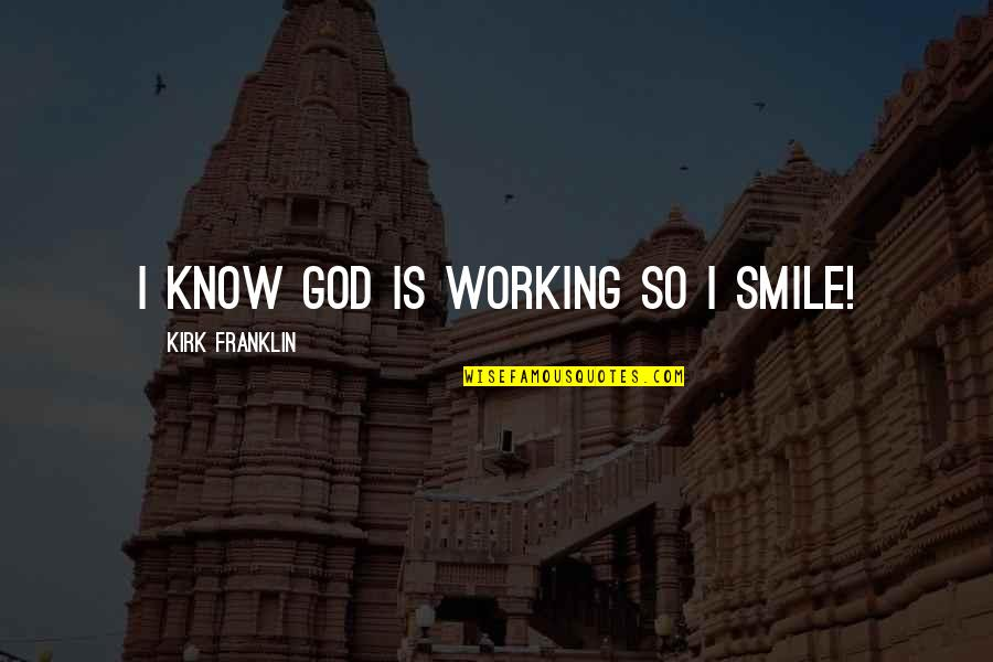 Linux Shell String Quotes By Kirk Franklin: I know God is working so I smile!