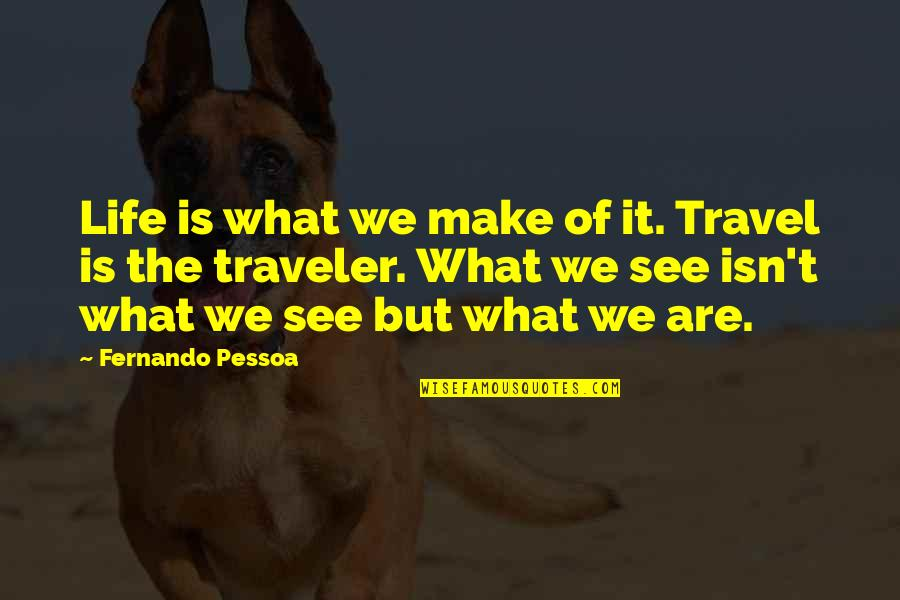 Lisa Milroy Quotes By Fernando Pessoa: Life is what we make of it. Travel