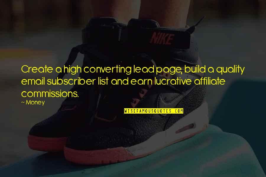 List'ning Quotes By Money: Create a high converting lead page, build a