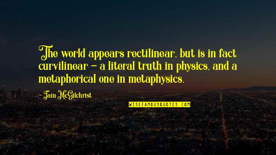 Literal Quotes By Iain McGilchrist: The world appears rectilinear, but is in fact