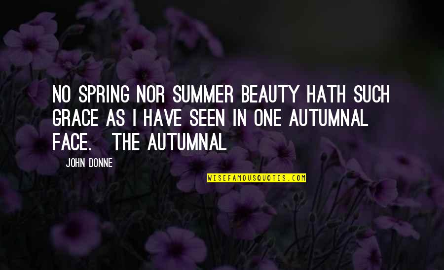Literal Quotes By John Donne: No spring nor summer beauty hath such grace
