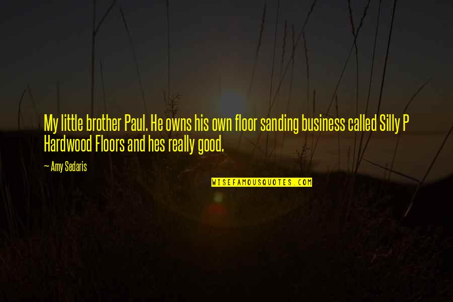 Little Brother Quotes By Amy Sedaris: My little brother Paul. He owns his own