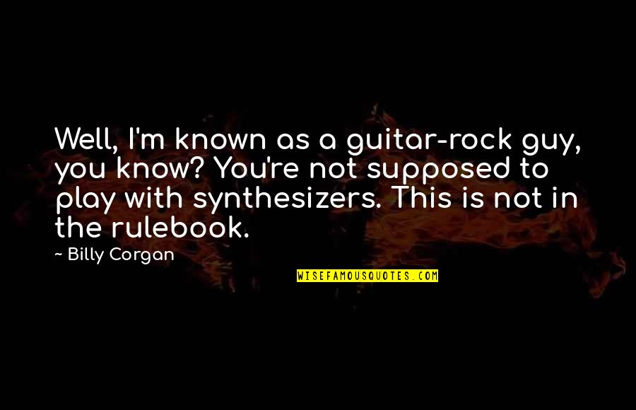 Little Fockers Movie Quotes By Billy Corgan: Well, I'm known as a guitar-rock guy, you
