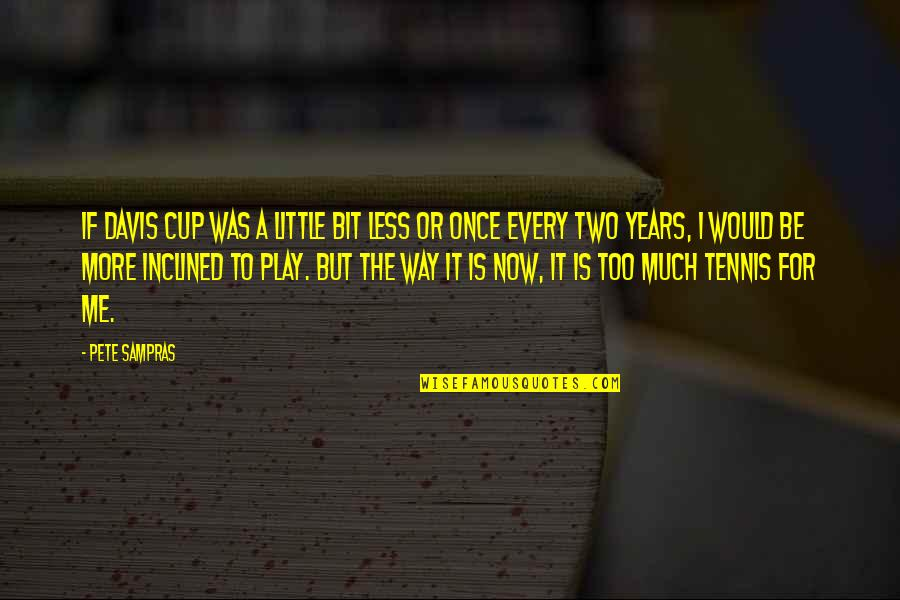 Little More Quotes By Pete Sampras: If Davis Cup was a little bit less
