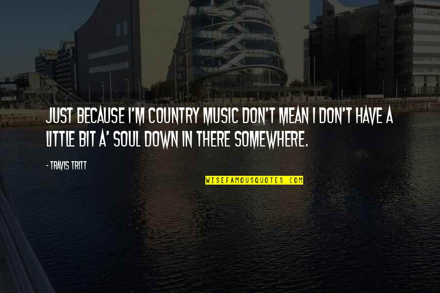 Little Music Quotes By Travis Tritt: Just because I'm country music don't mean I
