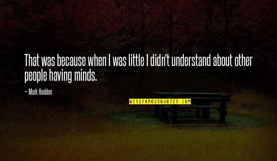 Little People Quotes By Mark Haddon: That was because when I was little I