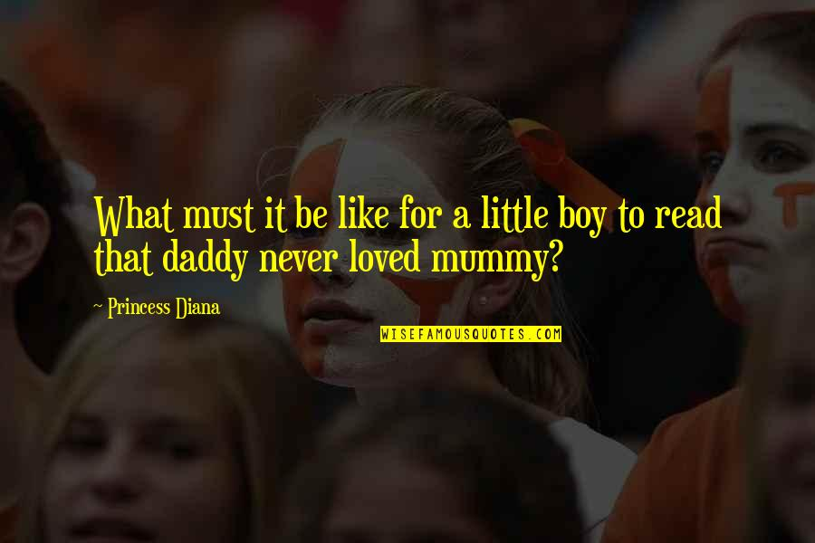 Little Princess Quotes By Princess Diana: What must it be like for a little