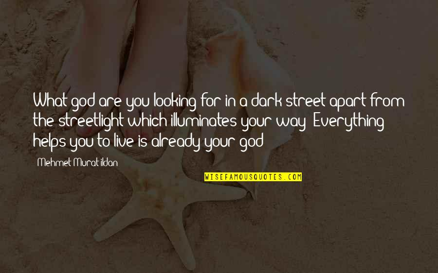 Live Everything To God Quotes By Mehmet Murat Ildan: What god are you looking for in a