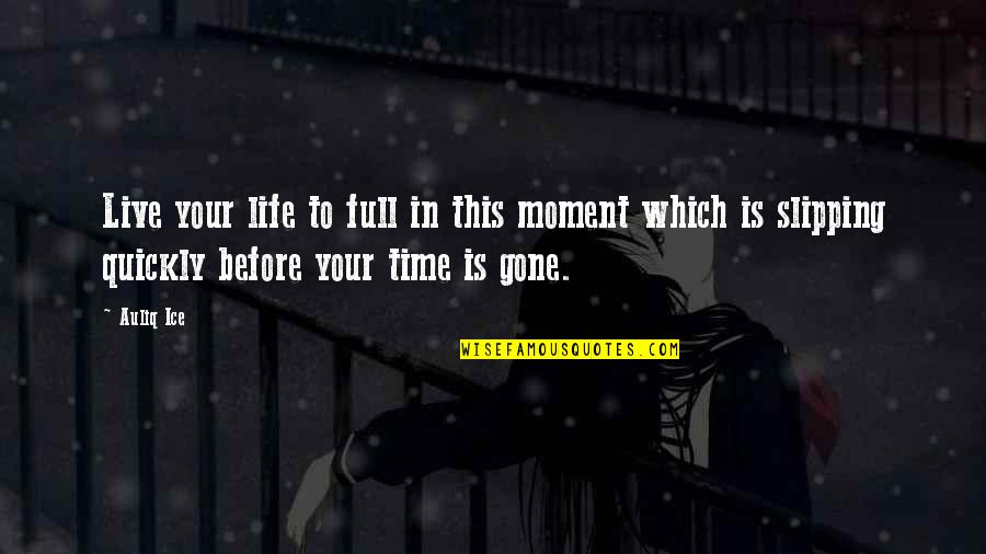 Live In This Moment Quotes By Auliq Ice: Live your life to full in this moment