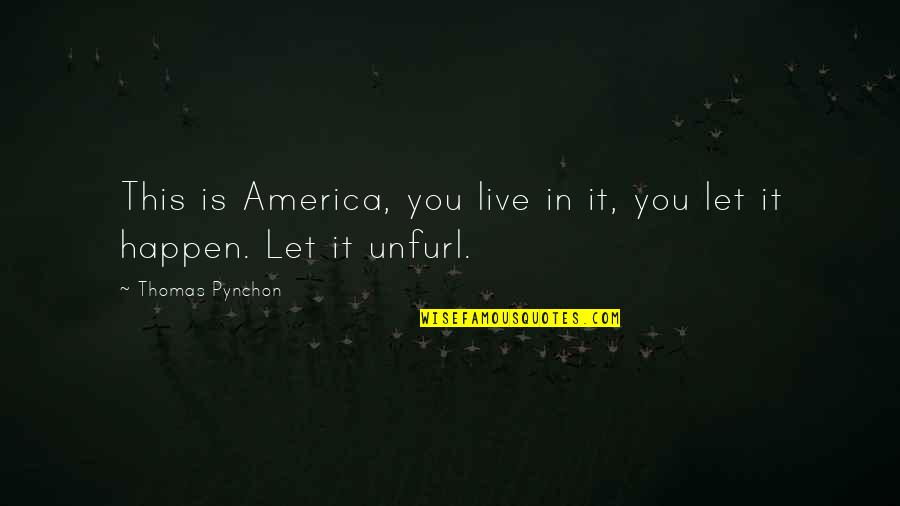 Live It Quotes By Thomas Pynchon: This is America, you live in it, you
