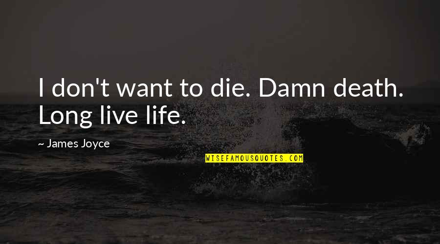 Live Long Life Quotes By James Joyce: I don't want to die. Damn death. Long