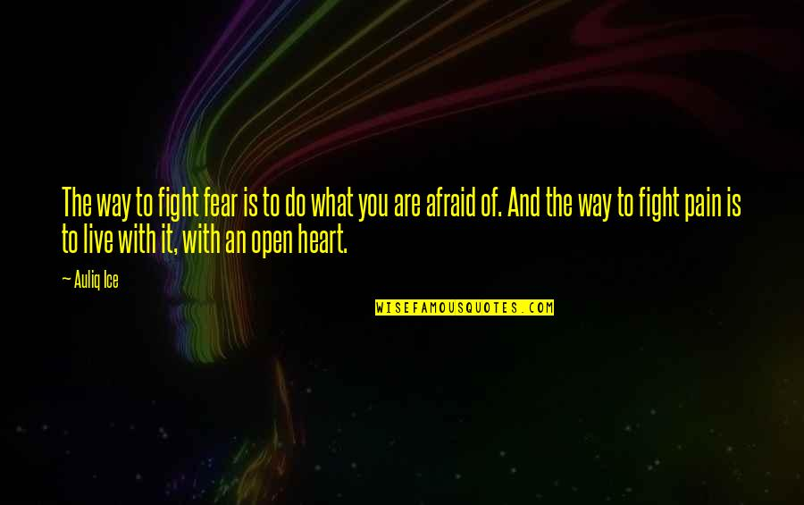 Live To Fight Quotes By Auliq Ice: The way to fight fear is to do