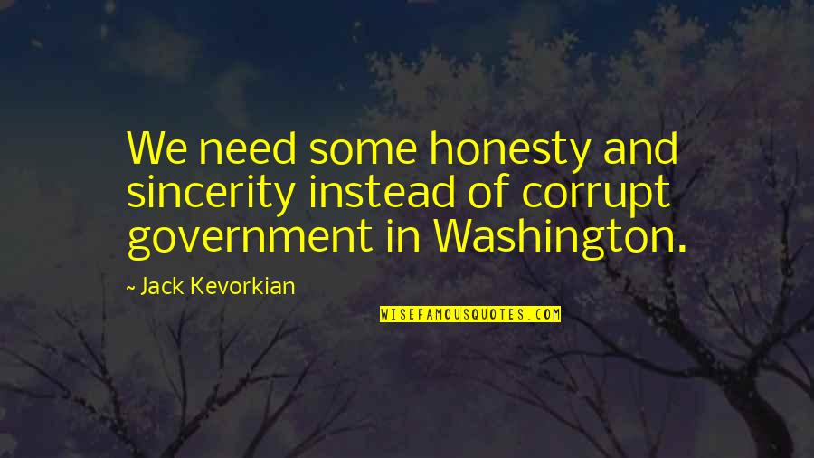 Live Usd Inr Quotes By Jack Kevorkian: We need some honesty and sincerity instead of