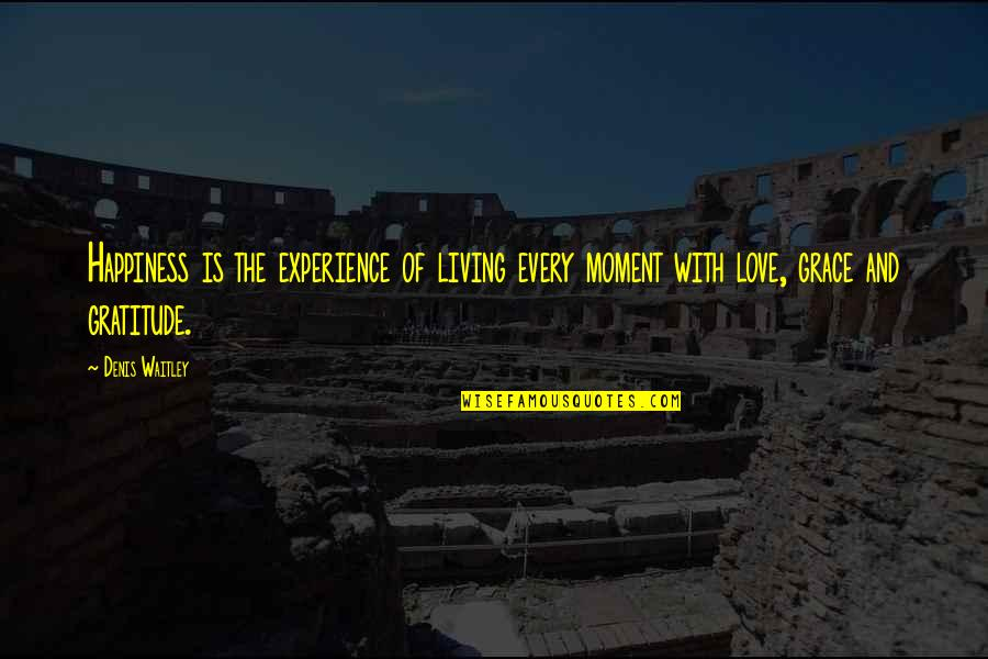 Living Every Moment Quotes By Denis Waitley: Happiness is the experience of living every moment