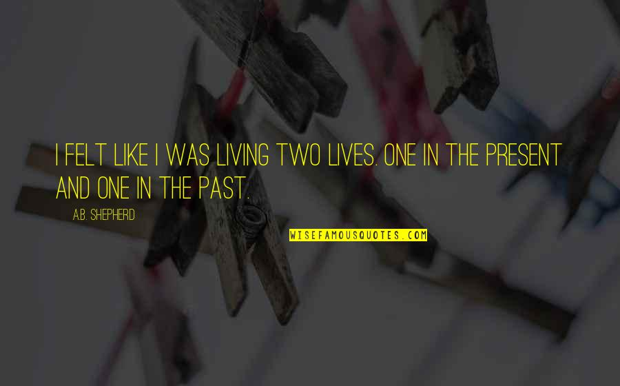 Living In Past Quotes By A.B. Shepherd: I felt like I was living two lives.