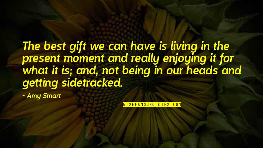 Living In The Moment Quotes By Amy Smart: The best gift we can have is living