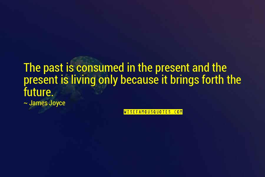 Living In The Present And Not The Past Quotes By James Joyce: The past is consumed in the present and