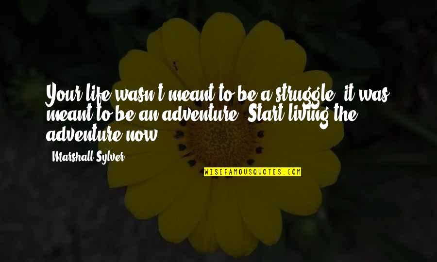 Living Life Now Quotes By Marshall Sylver: Your life wasn't meant to be a struggle;