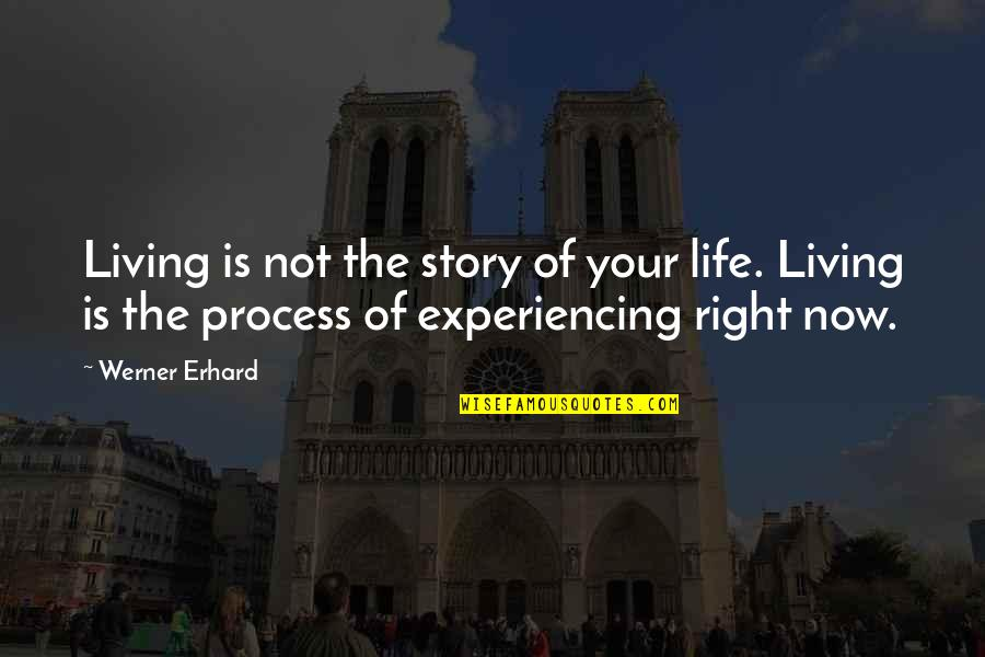 Living Life Now Quotes By Werner Erhard: Living is not the story of your life.