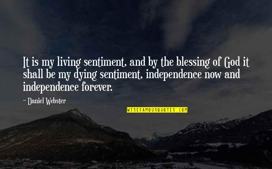 Living Now Quotes By Daniel Webster: It is my living sentiment, and by the